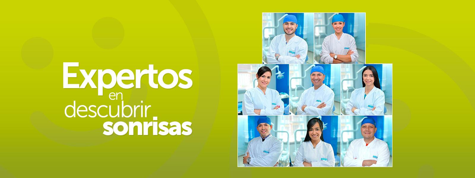 collage con los doctores de la clinica integra